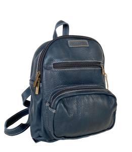 Bilde av Liten blå skinnsekk - New York backpack